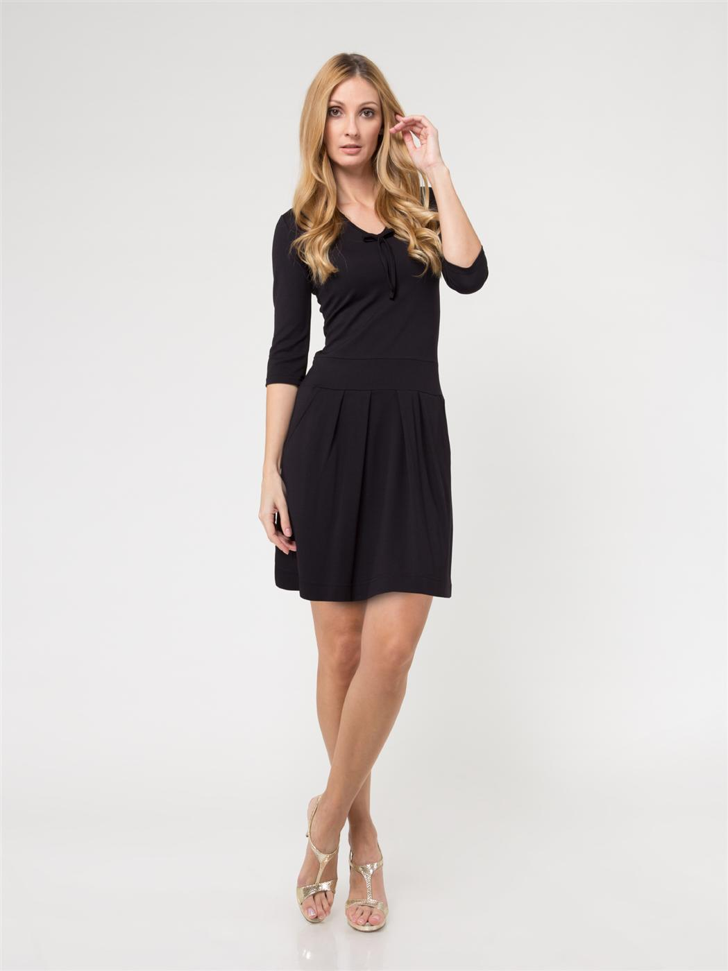 Schwarzes Kleid YY17