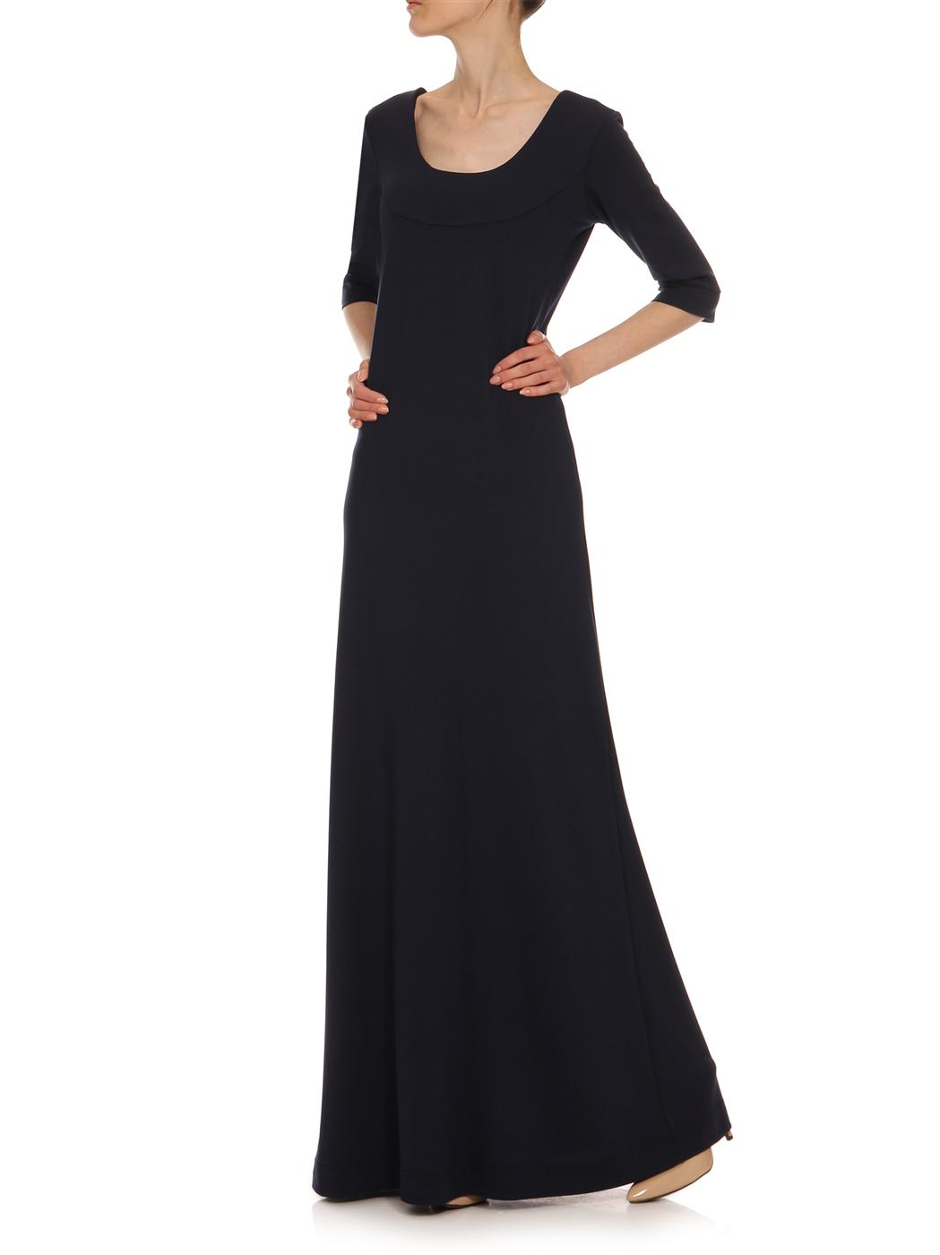626005ddf2e Marineblaues Kleid YY300105